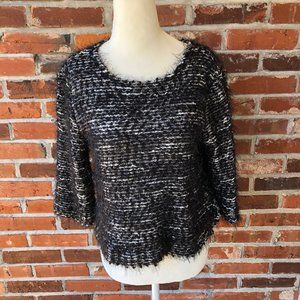 Vince Camuto 3/4-Sleeve Sweater Black/White S/P